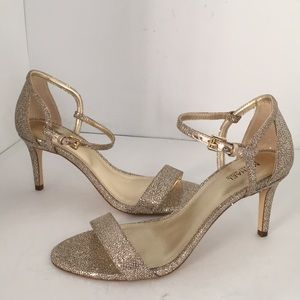 Michael Kors Mid Sandals Silver / Sand Glitter